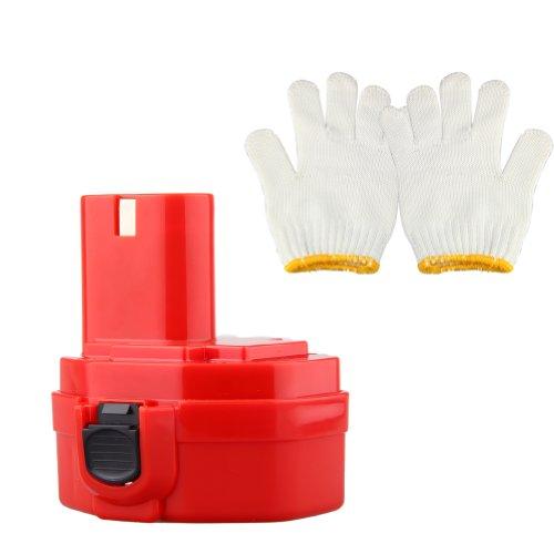 Generic 144V2000mAh Ni-Cd Replacement Cordless Power Tool Drill Battery for MAKITA 6228DW 6228DWAE 6228DWBE 6228DWE 6233D 6233DWAE 6233DWBE 6236DWBE Compatible Part NumbersMAKITA 1420 1422 192600-1 193985-8