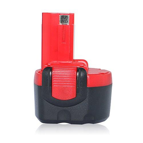 efluky 3000mAh 96V Replacement Cordless Power Tool Drill Battery for Bosch BAT048 BAT100 BAT119 BPT1041 BH-984 BH984 red-black