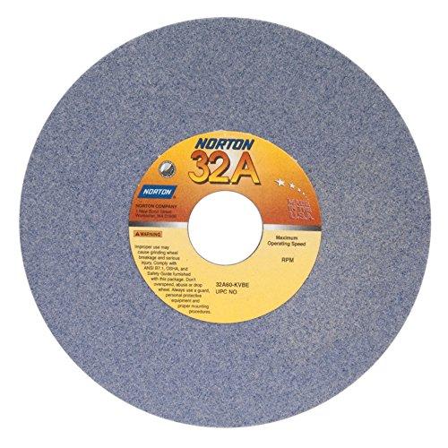 Norton 32A100-IVBE Type 01 Vitrified Straight Toolroom Grinding Wheel Aluminum Oxide 7 Diameter x 14 Width 1-14 Arbor 100 Grit Grade I Purple Pack of 1