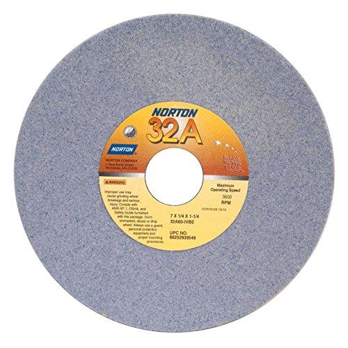 Norton 32A60-IVBE Type 01 Vitrified Straight Toolroom Grinding Wheel Aluminum Oxide 7 Diameter x 14 Width 1-14 Arbor 60 Grit Grade I Purple Pack of 1