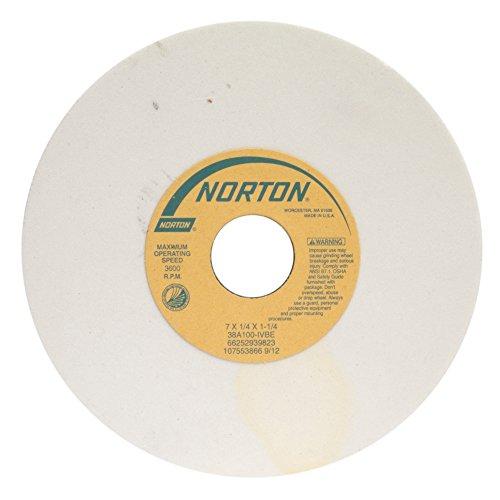 Norton 38A46-HVBE Type 01 Vitrified Straight Toolroom Grinding Wheel Aluminum Oxide 8 Diameter x 12 Width 1-14 Arbor 46 Grit Grade H White Pack of 1