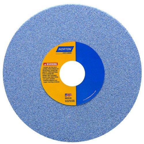 Norton 5SG46-IVS Type 01 Vitrified Straight Toolroom Grinding Wheel Ceramic Alumina 8 Diameter x 12 Width 1-14 Arbor 46 Grit Grade I Blue Pack of 1