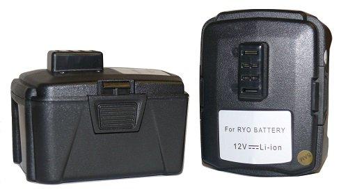 2x 12V 3Ah cordless driverdrill Battery for RYOBI BPL-1220 CB120L 12Volt Li-ion