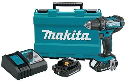 Makita 12 18V Compact Lithium-Ion Cordless Driver-Drill Kit XFD10R