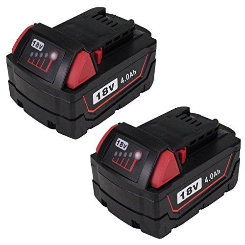 2Packs 18V M18 Replace REDLITHIUM XC 40 Extended Capacity Battery Pack for Milwaukee 48-11-1852