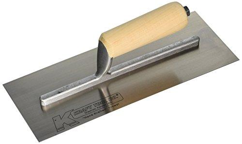 Kraft Tool DW521 Drywall Trowel with Str Wood Handle 12 x 4-12-Inch
