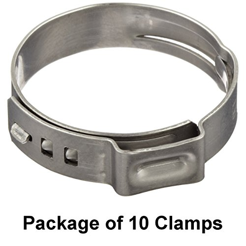 Size 2764 109 mm Oetiker Stepless Ear Clamps Single Ear Hose Clamps 10 Pack