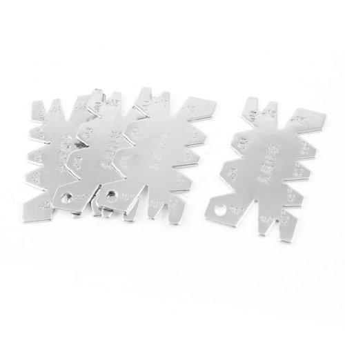 uxcell 4pcs Silver Tone Metal Screw Cutting Gauge Measuring Tool