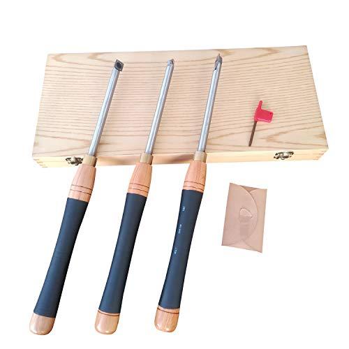 3 Piece Carbide Woodturning Tools 162 Large Wood Lathe Tools
