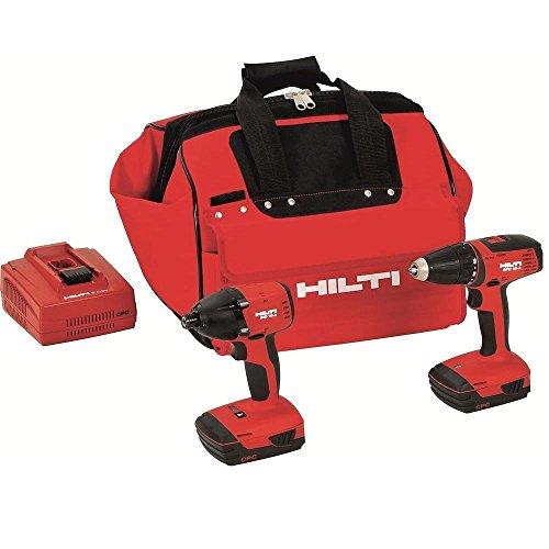 Hilti 3487032 18-Volt Lithium-Ion Cordless Drill DriverImpact Driver Compact Combo Kit