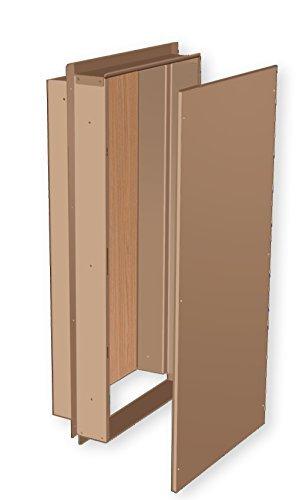Benner-Nawman 14326W-UL Exterior Semi-Recessed Enclosures 14-Inch X 32-Inch X6-Inch Tan by Benner-Nawman Inc