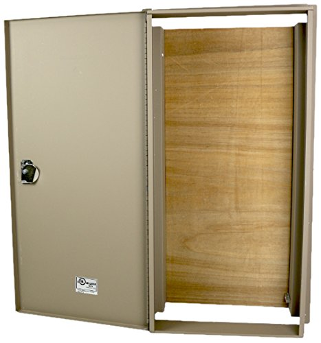 Benner-Nawman 14326WH-UL Exterior Semi-Recessed Enclosures 14-Inch X 32-Inch X6-Inch Tan