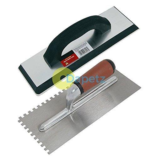 Dapetz Ã' Ceramic Tiling Tool Kit Grout Float Notched Tile Adhesive Trowel Grouting by Dapetz
