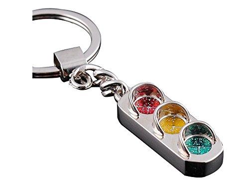 EtigerCreative Fashion Traffic Lights Key Ring Chain Alloy Key Chain Versatile Metal