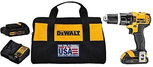 DEWALT DCD785C2 20V MAX Lithium Ion Compact 15 Ah Hammer DrillDriver Kit by DEWALT