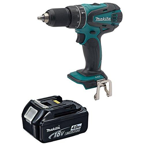 Makita XPH01Z 18-Volt LXT Cordless Hammer Drill Driver 40 Ah BL1840 Battery