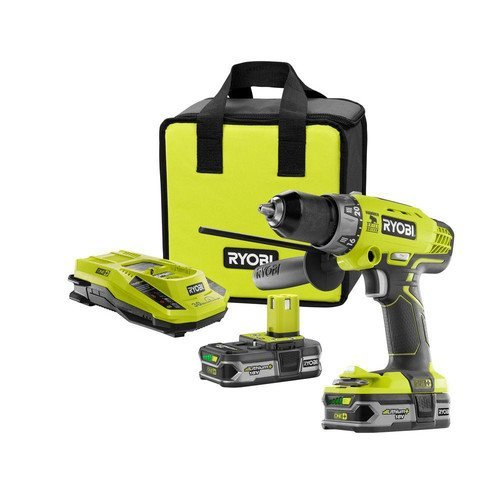 Ryobi ZRP1812 18-Volt ONE Lithium-Ion Cordless Hammer DrillDriver Kit Certified Refurbished