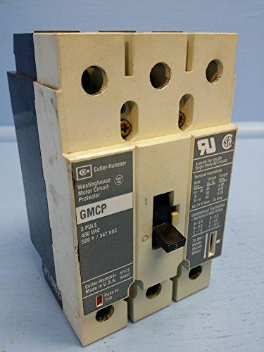 Cutler Hammer Type GMCP 3 Pole 480VAC Circuit Breaker GMCP003A0C 3A