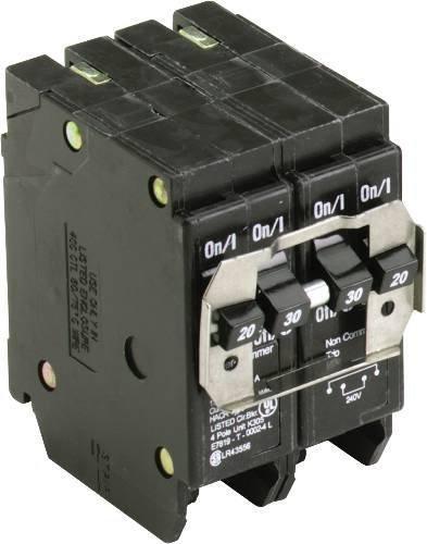 Eaton Cutler-Hammer Type BR 2 x 30-Amp  2 x 20 Amp Quad Circuit Breaker BQC220230 by EATON