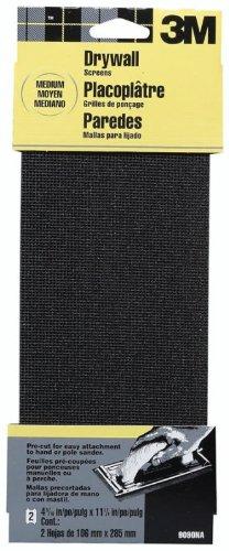 6 Pack 3M 9090NA 4-316 x 11-14 Medium 120 Grit Drywall Sanding Screens - 2 per Package