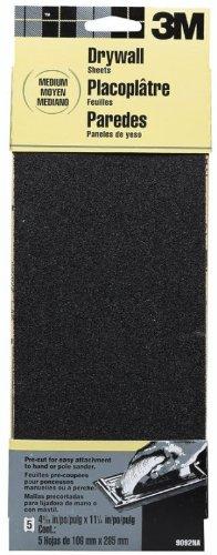 8 Pack 3M 9092NA 4-316 x 11-14 Medium Grit Drywall Sanding Screens - 5 per Package