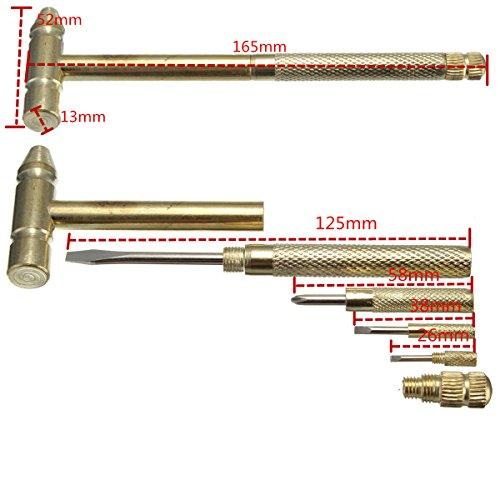 Micro Mini Copper Hammer Small Portable 4 Kinds Models Screwdrivers DIY Tools
