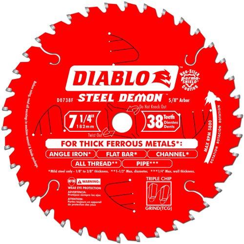 Freud D0738F Diablo Steel Demon Ferrous Cutting Saw Blade 7-14-Inch by 38t 58-Inch arbor