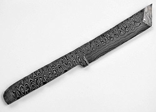Damascus High Carbon Steel Tanto Hunting Blank Blade Knife Knives Japanese Samurai Custom Making