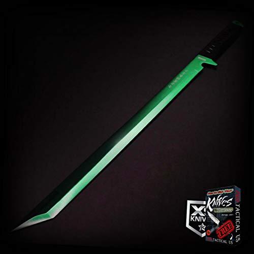 Epic GREEN 26-inch LASER TANTO Sword Machete Ninja Full Tang Fixed Blade  SHEATH XS336K  Free eBook by ProTactical-US