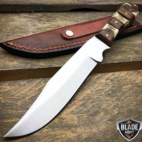 75 GENUINE STAG BONE Hunting Skinner Skinning Knife Stainless Steel Blade NEW