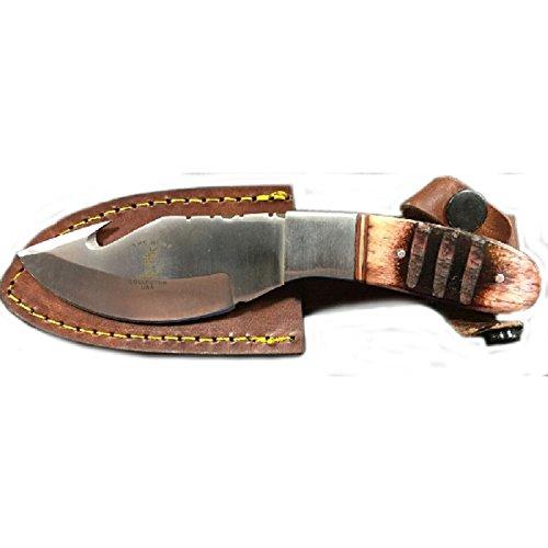 Bone Collector Knife BC-850 Fixed Blade Hunting Skinning Knife wLeather Sheath BC850