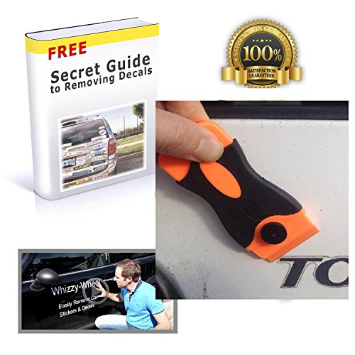 Car Scraper Plastic Blade to Remove Stickers and Decal with 20 Plastic Razor Blade Edges 10 Double Sided Blades