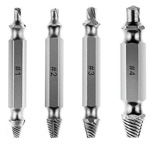 Damaged Screw Remover Set Vastar Screw Remover and Extractor Set - Set of 4 Damaged Screw Remover