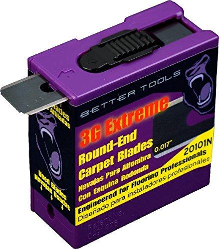 Carpet Blades - Round End 3 Dispensers - 100 Bladesdispenser