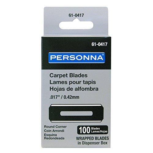 Personna Slotted Round Corner Carpet Blades 100-Pack