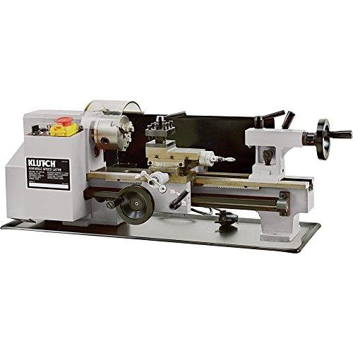 Klutch 7in x 12in Mini Metal Lathe - 34 HP 110V Motor