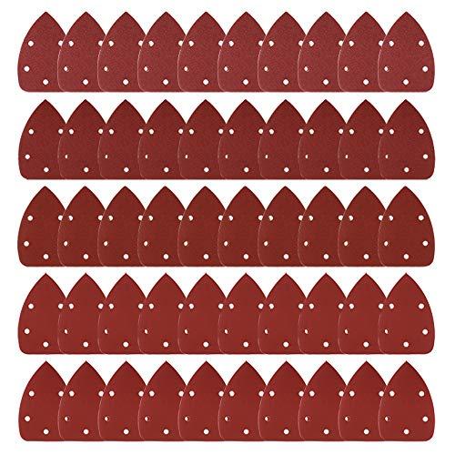 Coceca Mouse Detail Sander Sandpaper Sanding Paper Assorted 40 80 120 180 240 Grits 50pcs Mouse Sandpaper