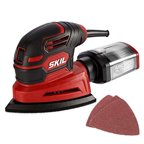 SKIL Corded Detail Sander Includes 3pcs Sanding Paper and Dust Box - SR250801