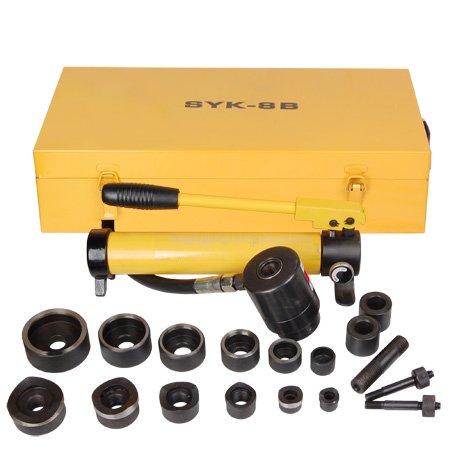 MegaBrand 10 ton Hydraulic Metal Hole Punch Press Driver Kit Tool Set