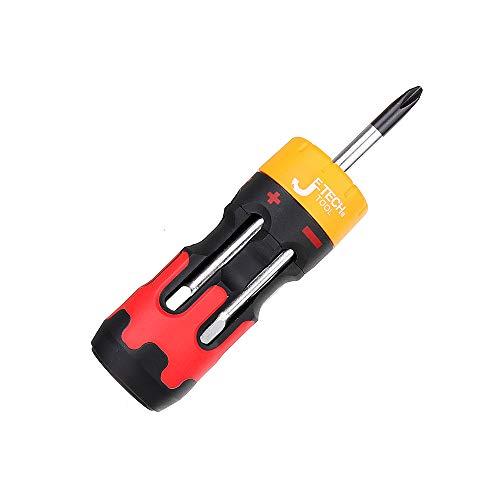 WCHAOEN S3-107 6 In 1 Anti Slip Mini Ratchet Screwdriver Magnetic Metric Screwdriver Accessories Tool