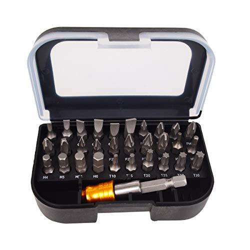Bleiou 31 Pcs Mini Ratchet Screwdriver Bit Set Bits Adapter Included Magnetic Repair Tool Set
