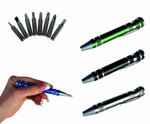 8 in 1 Screwdriver Pen Tool Set -A DIY Fans Best Friend- Novelty Idea GiftStocking Filler by WW Global