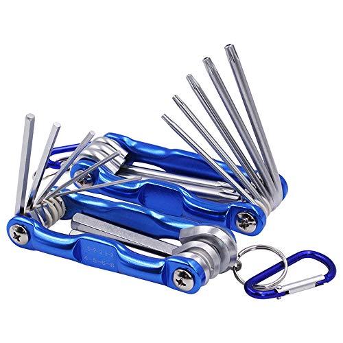 Yakamoz 2 in 1 Tool Set 8-Piece Tamper Proof Torx Folding Star Key Set 8-Piece Folding Hex Key Wrench Set