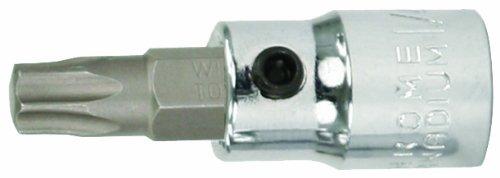 Wiha 70110 T10s Security Torx Bit Socket 38-Inch Square Drive