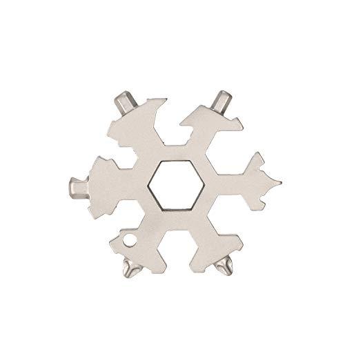 Snowflake tool card Portable Outdoor Snowflake Tool Card Multi-tool Card Combination EDC Tool Screwdriver Wrench Card Repair Snowflake Tools
