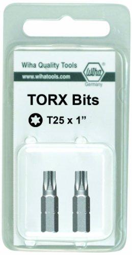 Wiha 71554 25mm T9 Torx Insert Bit 2-Pack