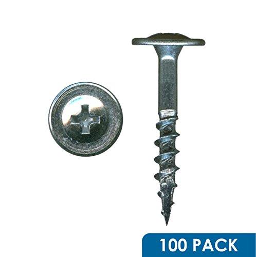 100 Pack of Rok Hardware 8 x 1-14 Coarse Deep Thread Truss Head Drawer Front Adjustment Phillips Screws