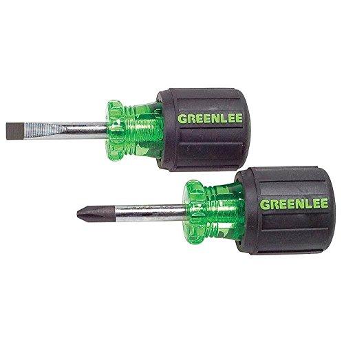 Greenlee 0153-04C Stubby Screwdriver Set 2 Piece
