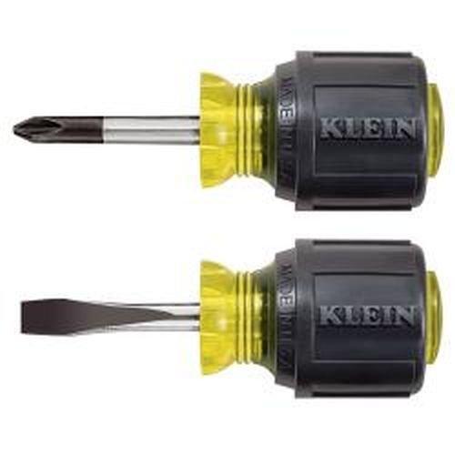 Klein Tools 85071 2-Piece Stubby Screwdriver Set
