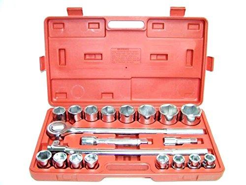 Socket Sets 21 PC 34 DRIVE SOCKET WRENCH SET 12 POINTS SOCKETS 34 DR STANDARD TOOL KIT